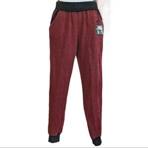 Over The Limit NWOT Joggers Heather Red/Black XL